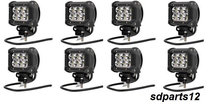8X 18W LED FEUX DE TRAVAIL LAMPE POUR CAMION IVECO DAF MAN SCANIA VOLVO MERCEDES