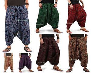 New Indian Cotton Yoga Man Women Stylish Baggy Gypsy Harem Pants Dance Trouser