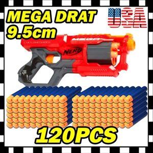 Blue Refill Foam Gun Bullets Toy for Nerf N-strike Elite Mega Centurion Lot