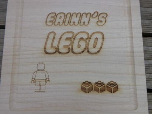 Bijoux cadeau Gravé personnalisé boîte de rangement en bois-LEGO meccano DUPLO