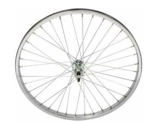 """24/"""" x 1.75/"""" Steel Bike Wheel 36 Spoke 12g UCP 3//8 Axle Chrome Bicycle Wheel"""