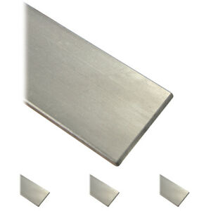 Flachstahl Edelstahl roh ungeschliffen V2A Flacheisen Flachmaterial VA bis 145cm