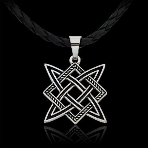 Men/'s Viking Boho Necklace Nordic Geometric Amulet Pendant Viking Jewelry Gift