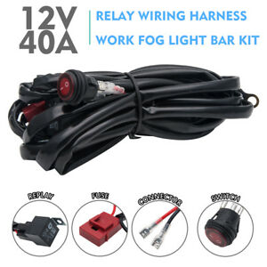 led hid spot work driving light bar wiring loom harness 12v 24v rh ebay com
