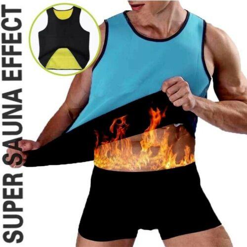 Men/'s Neoprene Sauna Vest Sweat Shirt Redu Fat Body Shaper Gym Training Top HOT