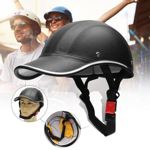Safety Motorcycle Electric Bike Helmet Adjustable Leather Helmets Windproof