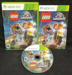 LEGO-Jurassic-World-XBOX-360-Game-Rare-Tested-Working-Complete