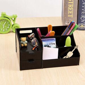 Image Is Loading Black Office Home Plastic Desk Pen Pencil Holder