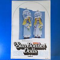 Carousel Sun Bonnet Dolls 3 D Plaque Kit 6.5 X 12 Jean 'n Polly 873