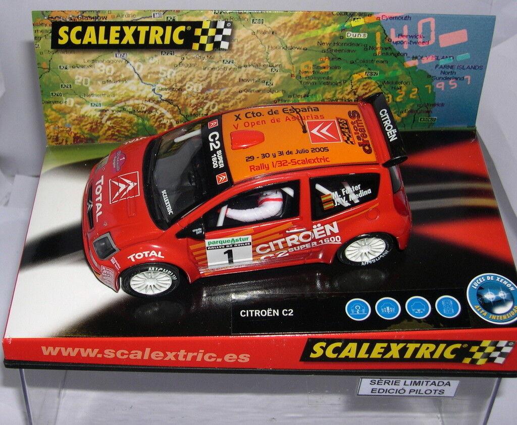 SCALEXTRIC CITROEN C2 X CTO.SPAGNA 2005 V OPEN ASTURIAS ACS OFF.DRIVER MB