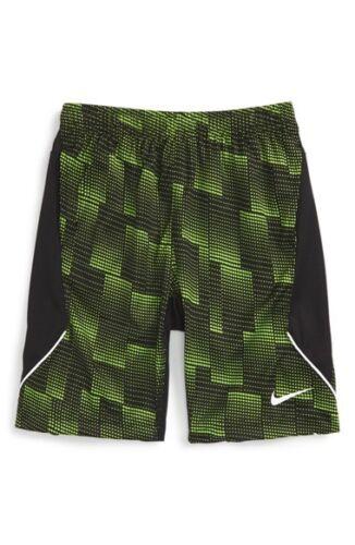 NIKE Boys/' LEGACY Dri-FIT Shorts ** ACTION GREEN//BLACK//WHITE 7 ** NWT 5 6