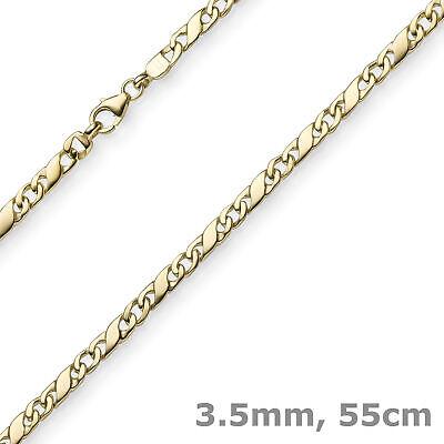 3,5mm Rockwellkette Kette Collier Halskette 585 Gold Gelbgold Glänzend 55cm
