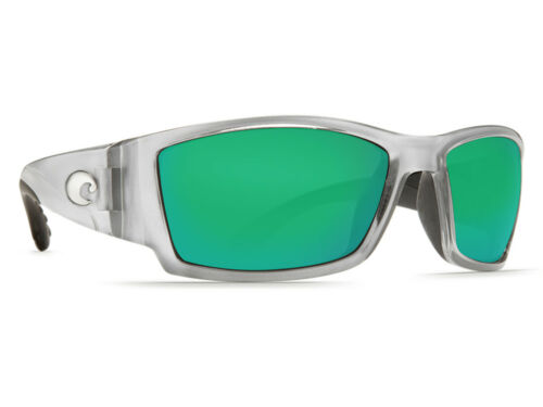 NEW Costa Del Mar Corbina Silver Green Mirror 580 Plastic 580P