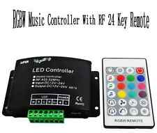 RF music beat controller 12/24v remote for 5pin rgbw led rgb+w light reel 5050
