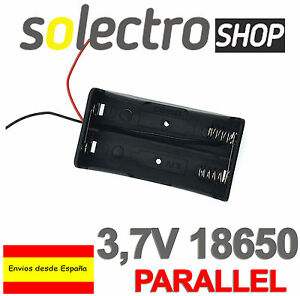 PORTAPILAS-2x-18650-3-7V-paralelo-litio-bateria-ARDUINO-Li-ion-holder-PP016