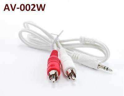 1.5ft Premium 22AWG 3.5mm Stereo Plug to 2-RCA Gold-Plated Audio Cable AV-001HN