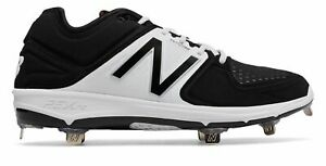 New Balance Low-Cut 3000V3 Metal Baseball Cleat Mens Shoes Black With White