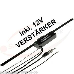 universal ukw scheiben antenne 12v verst rker radio klebeantenne autoantenne mb ebay. Black Bedroom Furniture Sets. Home Design Ideas