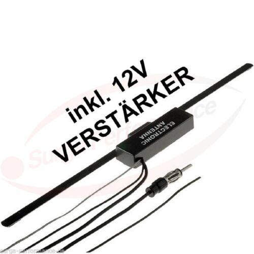 Universal UKW Scheiben Antenne 12V Verstärker Radio Klebeantenne VW FIAT OPEL