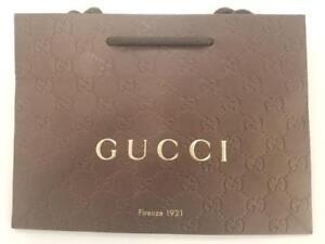 7b082fc83 A imagem está carregando Saco-De-Papel-De-Presente-Gucci-Tamanho-9X6-