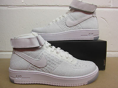 Details about Nike Womens AF1 Air Force 1 Flyknit Hi Top Trainers 818018 100 Sneakers Shoes