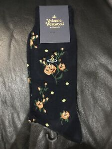 Vivienne-Westwood-Pantherella-Socks-Flower-Navy