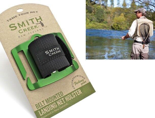 Smith Creek Net Holster Belt Mounted Landing Net Holder New Zealand Made Green