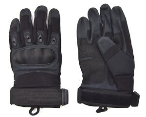 Black-Tactical-Hard-Knuckle-Quick-Gloves-Combat-Security-Airsoft-Assault-SF-SAS