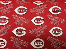 "CINCINNATI REDS MLB 60"" Cotton Fabric 1/2 Yard Fabric Traditions N"