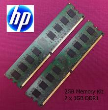 2 x 1GB (2GB) DDR1 Memory Upgrade RAM Kit HP Compaq EVO D510 Tower Computer