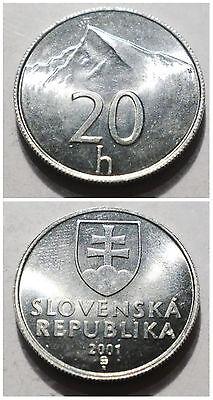 SLOVAKIA 10 Halier 1993-2003 pavilion 17mm aluminium coin UNC 1pcs