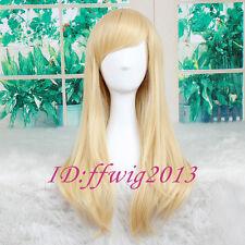 "23"" Blonde Kingdom Hearts Namine Straight long Anime Cosplay Wig +FREE WIG CAP"