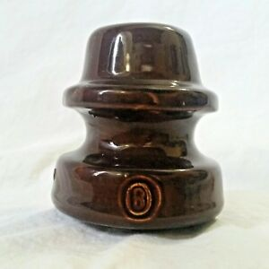Details about Antique Ceramic Electrical Insulators Brown Porcelain  Threaded Round Top (B) MM
