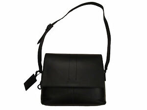 37a2cdf136 Image is loading Ralph-Lauren-Collection-Mens-Black-Leather-Polo-Messenger-