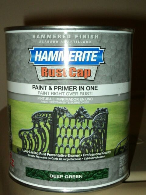 1 Quart Hammered Deep Green Hammerite Rust Cap 43165 Kilz Primer Paint