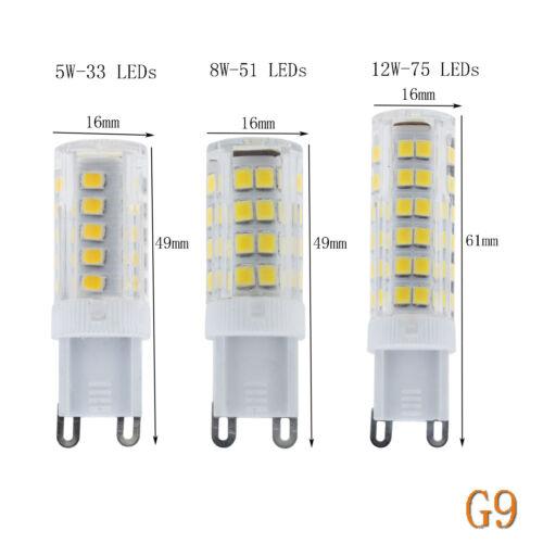 G4 G9 E14 5W 8W 12W Céramique LED Maïs Ampoule Capsule Cristal Clair Blanche Hol