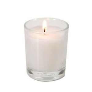 24-White-Wax-Clear-Glass-Holder-Wedding-Table-Decoration-Votive-Candle-6cm-10hr