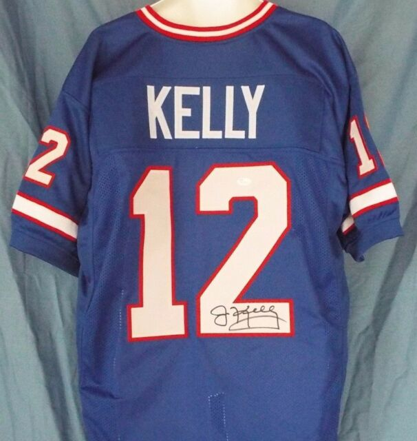 6a82657bd25 Jim Kelly Signed Blue Buffalo Bills Custom Jersey JSA for sale ...