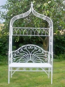 Charmant Image Is Loading Milk White Garden Arch And Bench