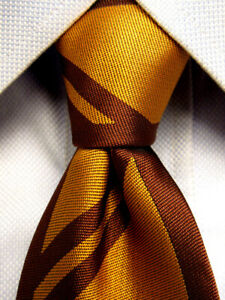 Harry-Potter-Marron-Jaune-Polyester-Cravate-Fine-A2361
