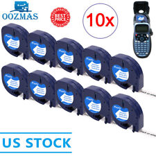 10pk 91331 Compatible Dymo Letratag Refill White 12mm Plastic Label Tape Lt 100h