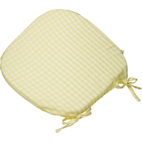 Cravate arrondie vichy fauteuil siège pad coussin extérieur jardin salle à manger vérifié