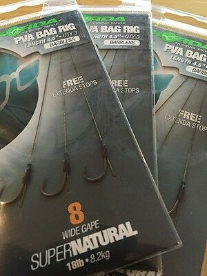 Korda Ready-Tied PVA Bag Rigs Barbed//Barbless Carp Fishing