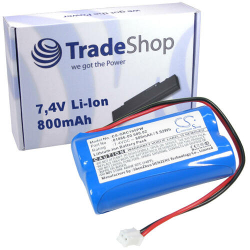 AKKU 800mAh 7,4V Li-Ion für Gardena C1060 plus Solar ersetzt 01866-00.600.02