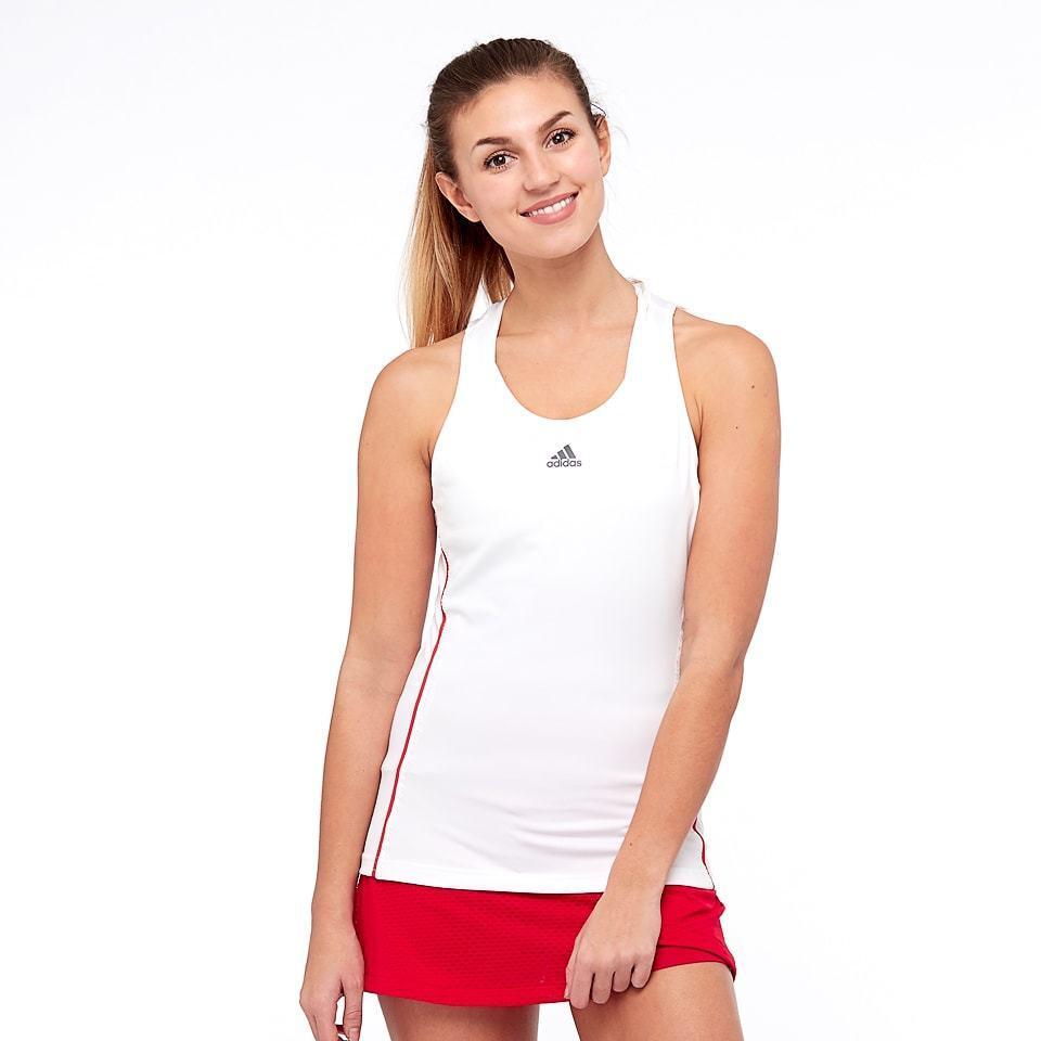 Adidas Damen Barrikade Tank Top Damen Weiß Rot CE0370