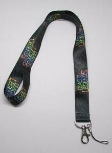 Black-JUSTICE-LEAGUE-LEGENDS-Lanyard-KEY-CHAIN-Ring-Keychain-ID-Holder-NEW