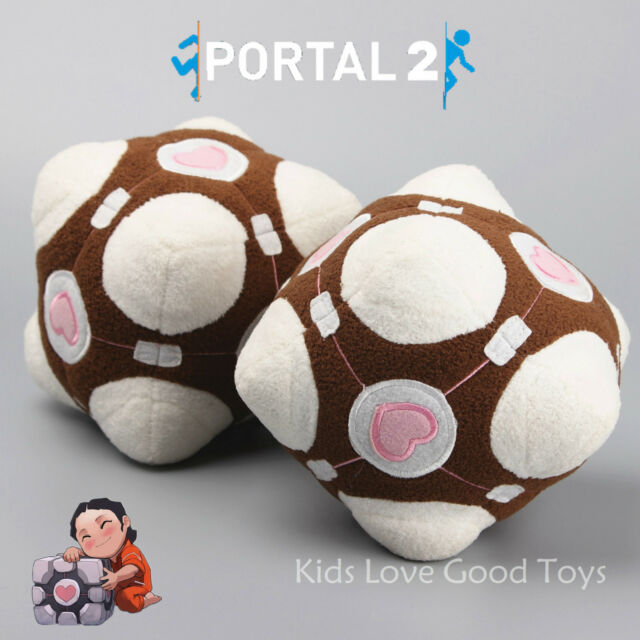 Portal 2 Weighted Companion Cube Plush Soft Toy Stuffed Animal Cuddly Doll 6''