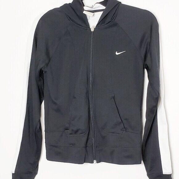 Nike Women's Size S Full Zip Cropped Jacket Hoodie Black