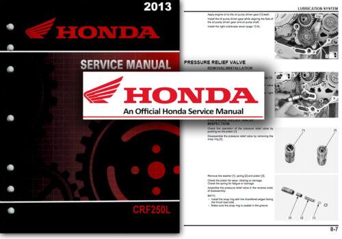 Honda CRF250L Service Workshop Repair Shop Manual CRF250 2013 onwards CRF 250 L