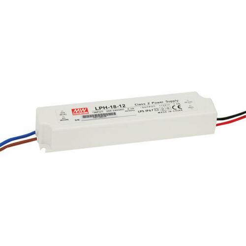 Mean Well LPH-18-24 18 W 24 V IP67 DEL Power Supply